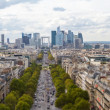 La Defense seen from Arc de Triomphe — Stock Photo