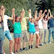 Group of Teenagers at Park — Stock Photo #17867901