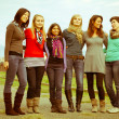 Group of Girls Outside — Stockfoto