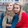 Stock Photo: Two Polish Women Embraced