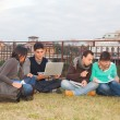 Stock Photo: multiethnic group of college students
