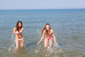 Women Playing in the Water — Stock Photo