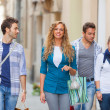 Group of Friends with Shopping Bags — Lizenzfreies Foto