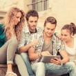 Group of Friends with Tablet PC — Stock Photo #18186369