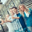 Group of Friends with Thumbs Up — Stock Photo #18186425