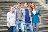 Group of Friends Embraced — Stock Photo
