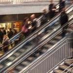 On Escalator — Stock Photo #18489657