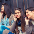 Group of Women Talking on Mobile Phone — Stock Photo #18808211