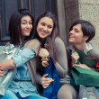 Three Happy Women After Shopping — Stock Photo