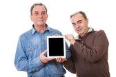 Two Senior Men with Tablet PC — Stock Photo