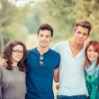 Group of Teenage Friends Outdoor — Stock Photo #21147835