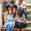 Group of Teenage Friends with Tablet PC — Stock Photo #21150047