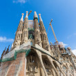 Stock Photo: SagradFamiliin Barcelonon Sunny Day