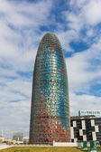 Agbar Tower in Barcelona on a Sunny Day — Stock Photo