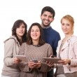 Group of Friends with Digital Devices — Stock Photo