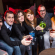 Stock Photo: Group of Friends in Night Club