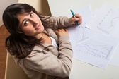 Young Girl Studying at Home — Stock Photo