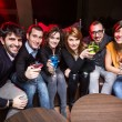 Group of Friends in a Night Club — Stock Photo