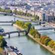 Panoramic View from the Tour Eiffel in Paris - Stock Photo