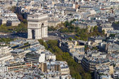 Arc de Triomphe seen from Tour Eiffel — Stock Photo