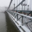 Stock Photo: Chain Bridge in Budapest under the Snow
