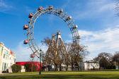 Wiener riesenrad, a famosa roda-gigante em wien — Fotografia Stock