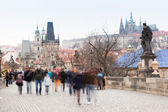 On Charles Bridge in Prague, Long Exposure — Stock Photo