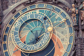 Famous Astronomical Clock in Prague — Stock Photo
