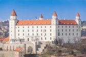 老城堡在布拉迪斯拉上一个晴朗的天 — 图库照片