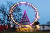 Wiener Riesenrad, Famous Ferris Wheel in Wien — Stock Photo