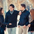 Group of Friends Talking Outside — 图库照片