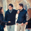 Group of Friends Talking Outside — Foto de Stock