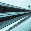 New Futuristic Bridge in Bratislava - Stock Photo