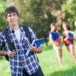 Group of Teenage Students at Park - Foto Stock