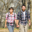 Royalty-Free Stock Photo: Young Couple Hiking in the Nature
