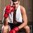Boxer in the Locker Room — Stock Photo #24353551