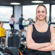 Beautiful Young Woman at Gym — Stock Photo