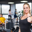 Beautiful Young Woman at Gym — Stock Photo #24369883