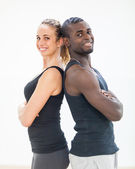 Young Couple with Gym Clothes — Stock Photo