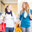 Royalty-Free Stock Photo: Two Young Women with Shopping Bags
