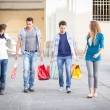 Group of Friends with Shopping Bags - Foto Stock