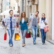 Group of Friends with Shopping Bags — Stock Photo