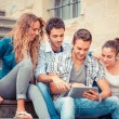 Group of Friends with Tablet PC — Stock Photo #24416787