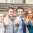 Group of Friends with Thumbs Up — Stock Photo #24417027