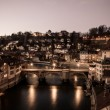 Stock Photo: Night View of Bern and Aare River