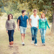 Stock Photo: Group of Teenage Friends Outdoor