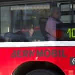 BERN, SWITZERLAND - FEBRUARY 29: Senior Woman Going by Bus on Fe — Stock Photo #24546353