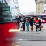 BERN, SWITZERLAND - FEBRUARY 23: at Tram Stop on February — Stock Photo #24546591