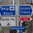 Road Sign in Bern, Switzerland - Stock Photo