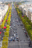 PARIS, FRANCE - OCTOBER 2: Tilt-Shift View of Champs Elysees fro — Stock Photo